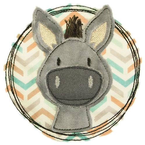 Doodle-Button Esel 7x7cm