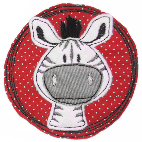 Doodle-Button Zebra 10x10cm
