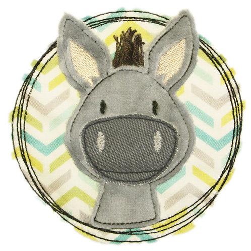Doodle-Button Esel 10x10cm