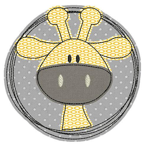 Doodle-Button Giraffe 13x13cm
