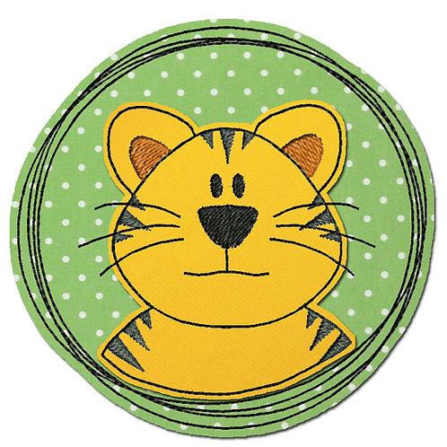 Doodle-Button Tiger 10x10cm