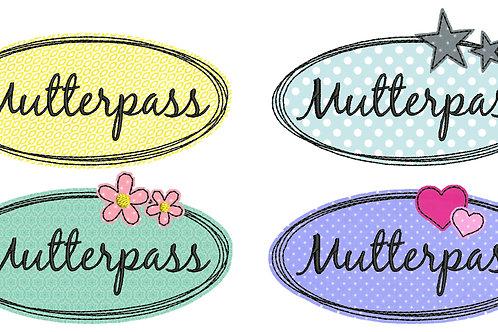 Button-Set Mutterpass - Doodle Stickdatei 10x10cm