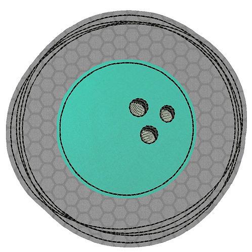 Doodle-Button Bowlingkugel 10x10cm