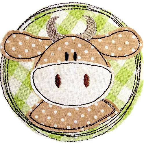 Doodle-Button Kuh10x10cm
