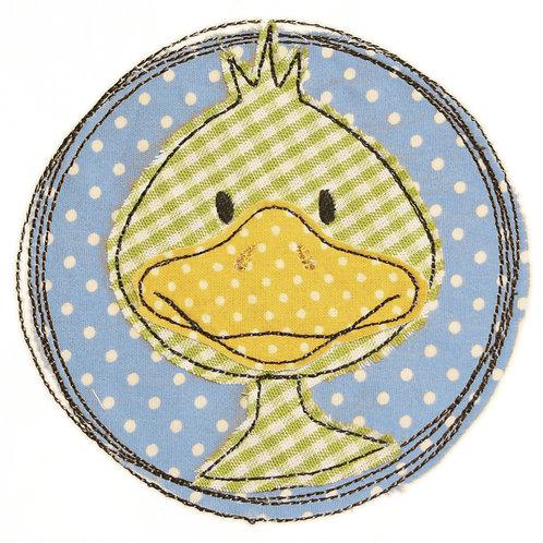 Doodle-Button Ente 13x13cm