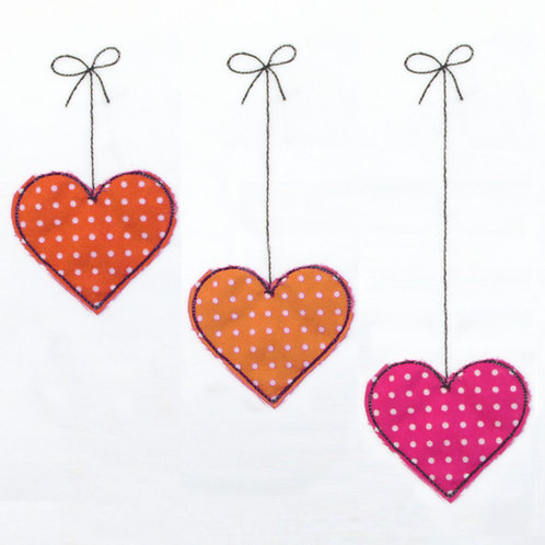 Set Herzen hängend 3 Doodles