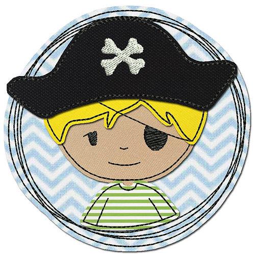 Doodle-Button Pirat 7x7cm