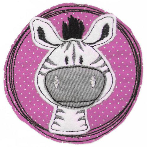 Doodle-Button Zebra 13x13cm