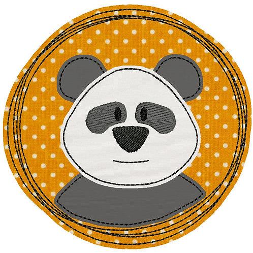 Doodle-Button Panda 10x10cm