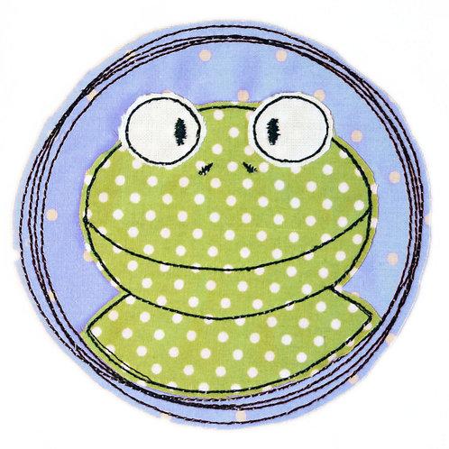 Doodle-Button Frosch 7x7cm