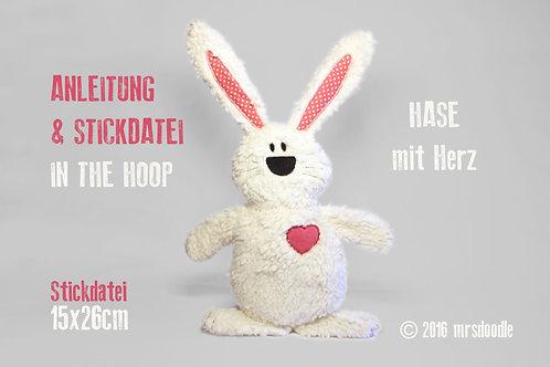 Hase - ITH-Stickdatei 16x26cm