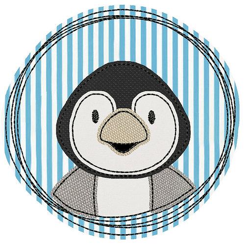 Doodle-Button Pinguin 7x7cm