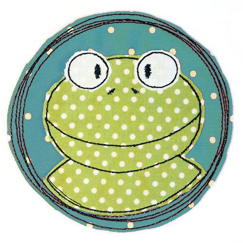 Doodle-Button Frosch 13x13cm