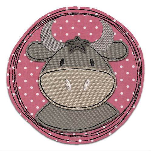 Doodle-Button Stier 13x13cm