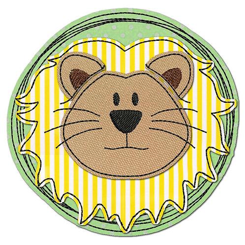 Doodle-Button Löwe 18x18cm