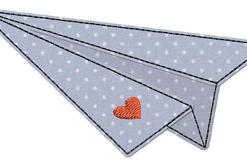 Papierflieger - Doodle-Stickdatei 10x10cm