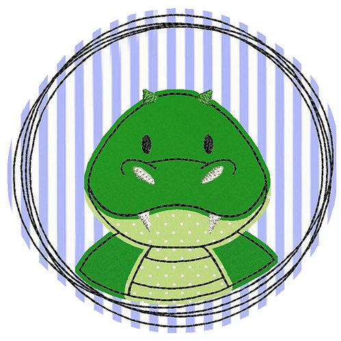 Doodle-Button Krokodil 7x7cm