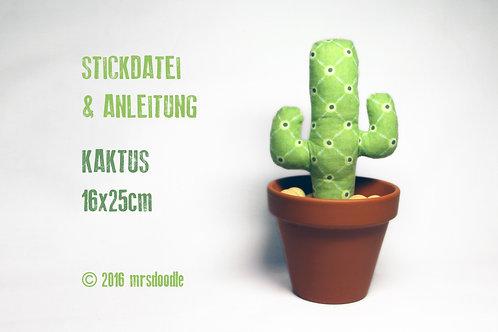 Kaktus - ITH-Stickdatei 16x26cm