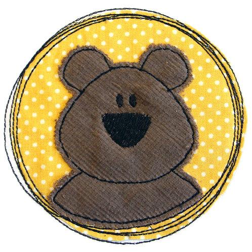 Doodle-Button Bär 10x10cm