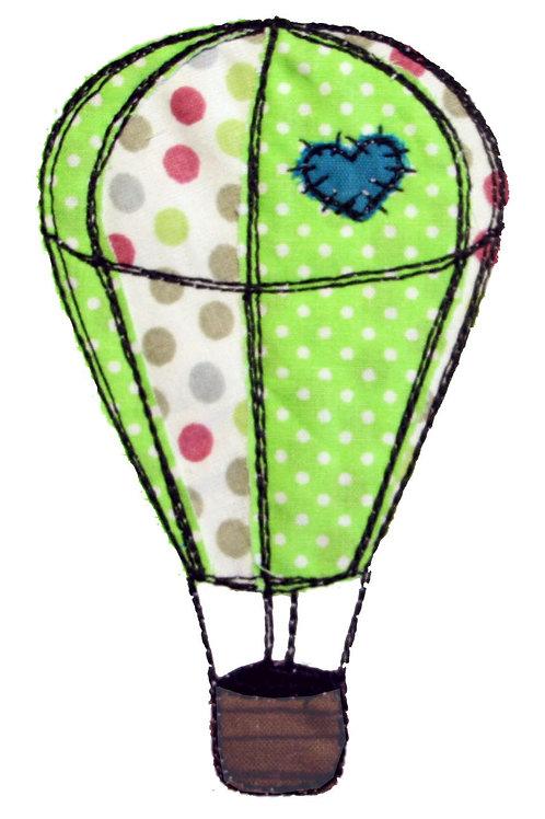 Heißluftballon - Doodle-Stickdatei 13x18cm