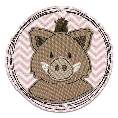 Wildschwein - Doodle-Stickdatei 10x10cm