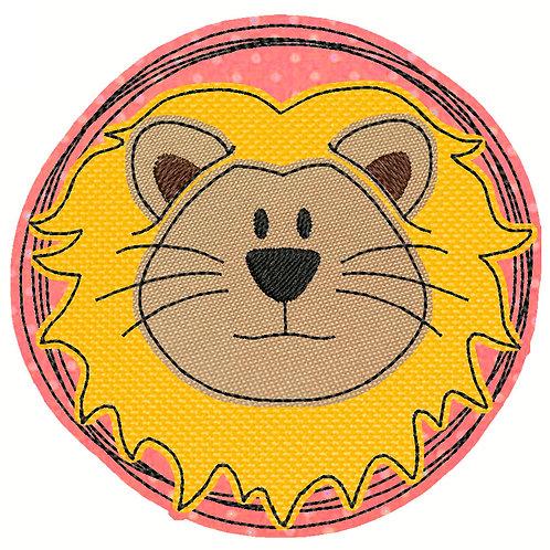 Doodle-Button Löwe 13x13cm