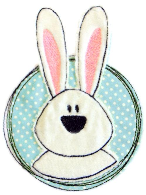 Doodle-Button Hase 7x7cm
