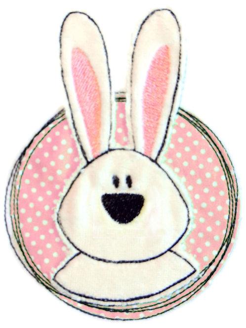 Doodle-Button Hase 13x18cm