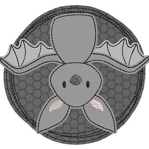 Doodle-Button Fledermaus 10x10cm