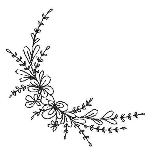 Blumenranke - Doodle