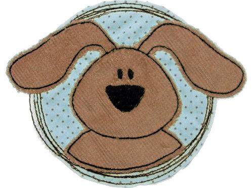 Doodle-Button Hund 13x16,5cm