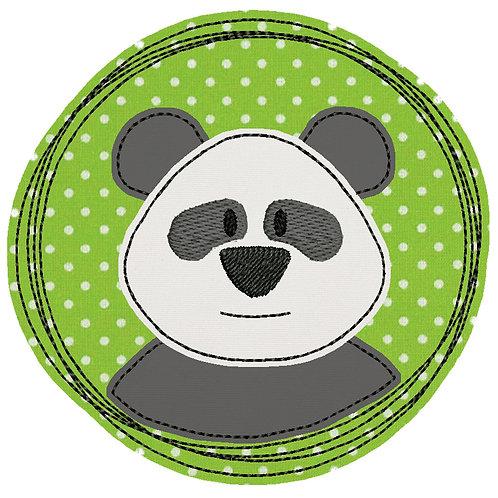 Doodle-Button Panda 7x7cm