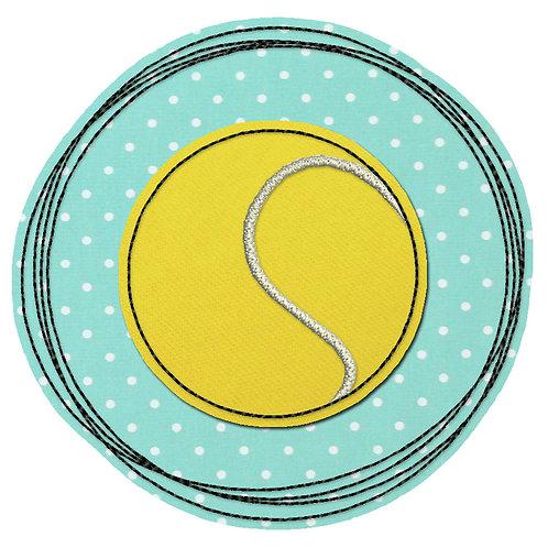 Doodle-Button Tennisball 7x7cm