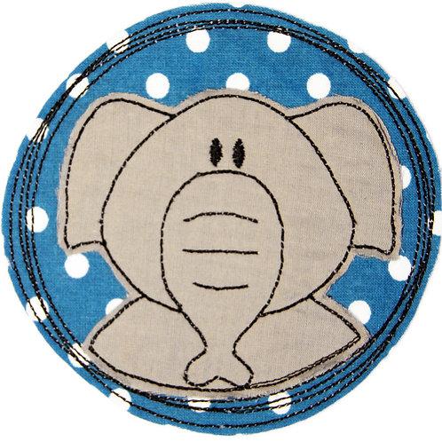 Doodle-Button Elefant 10x10cm
