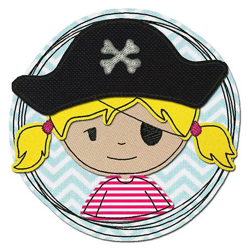 Doodle-Button Piratin 10x10cm