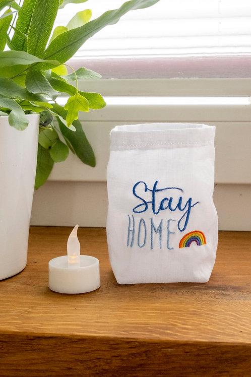 """ITH-Stickdatei Lichterbeutel """"StayHOME"""""""