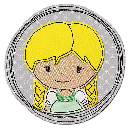 Doodle-Button Madl 13x13cm