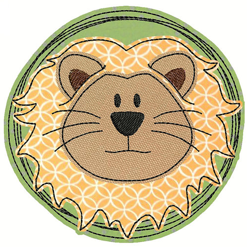 Doodle-Button Löwe 7x7cm
