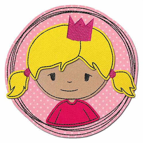 Doodle-Button Prinzessin 10x10cm