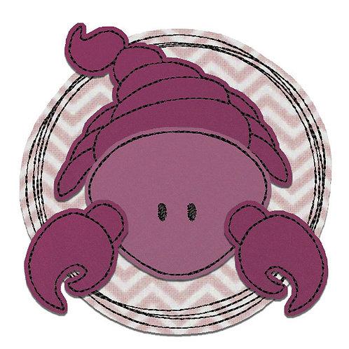 Doodle-Button Skorpion 13x13cm