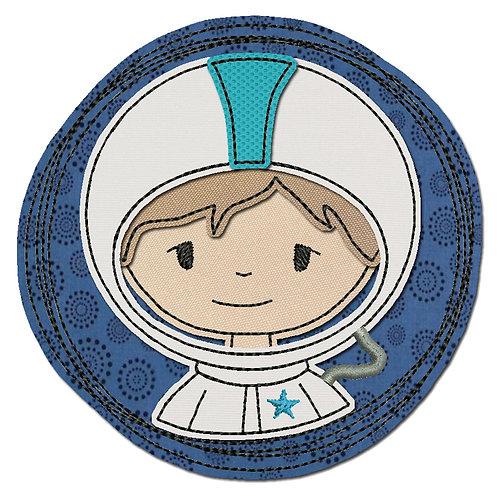 Doodle-Button Astronaut 13x13cm
