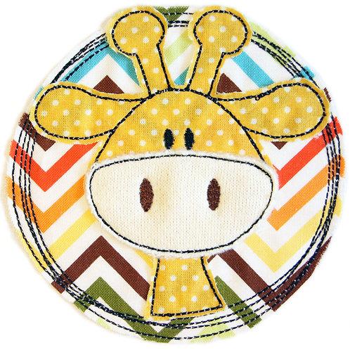 Doodle-Button Giraffe 10x10cm