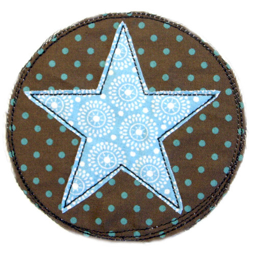 Doodle-Button Stern 7x7cm