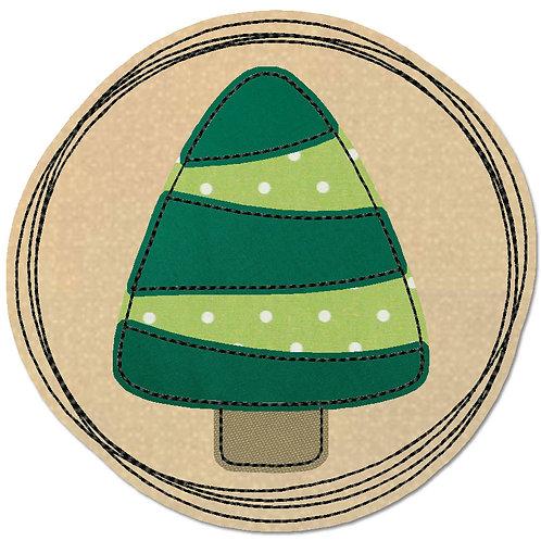 Doodle-Button Tanne 7x7cm