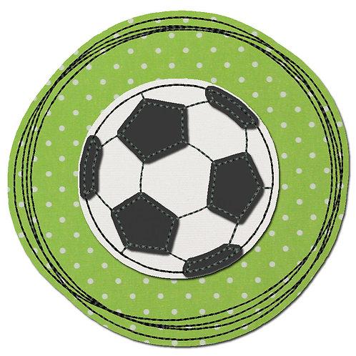 Doodle-Button Fussball 7x7cm