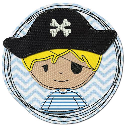 Doodle-Button Pirat 13x13cm