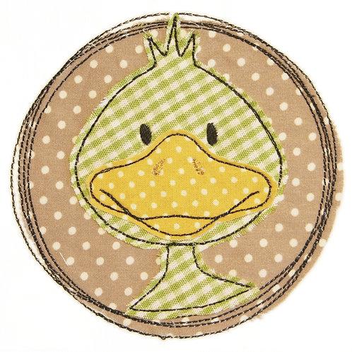 Doodle-Button Ente 10x10cm