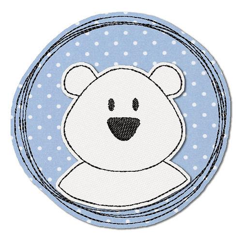Doodle-Button Eisbär 7x7cm