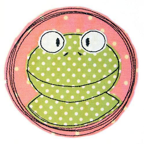 Doodle-Button Frosch 10x10cm