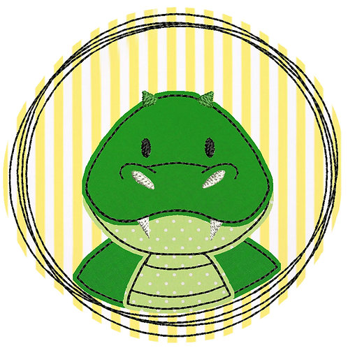 Doodle-Button Krokodil 13x13cm